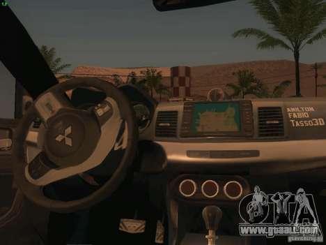 Mitsubishi  Lancer Evo X BMS Edition for GTA San Andreas bottom view