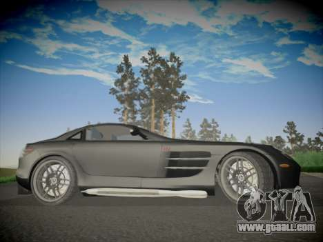 Mercedes-Benz SLR 722 Custom Edition for GTA San Andreas back view