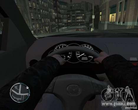 Mazda 3 Police for GTA 4 back left view