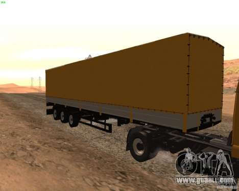 Trailer Nefaz from Truckers 2 for GTA San Andreas back left view