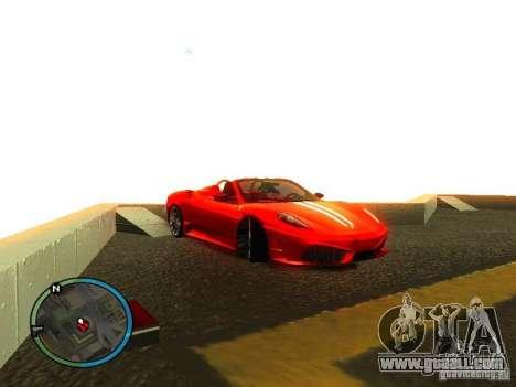 Ferrari F430 Scuderia M16 2008 for GTA San Andreas interior