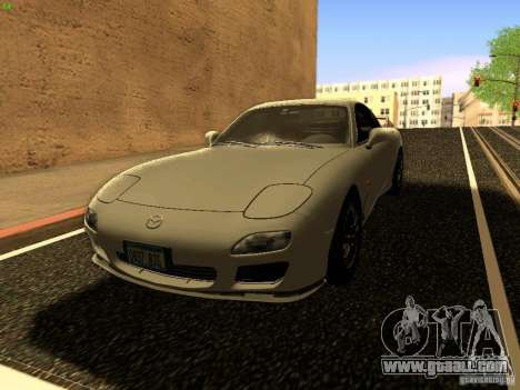 Mazda RX-7 for GTA San Andreas upper view