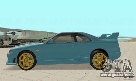 Nissan Skyline R33 Tuning for GTA San Andreas left view