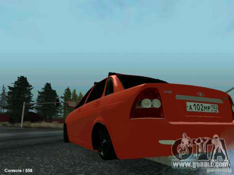 LADA 2170 102-RUS for GTA San Andreas back left view