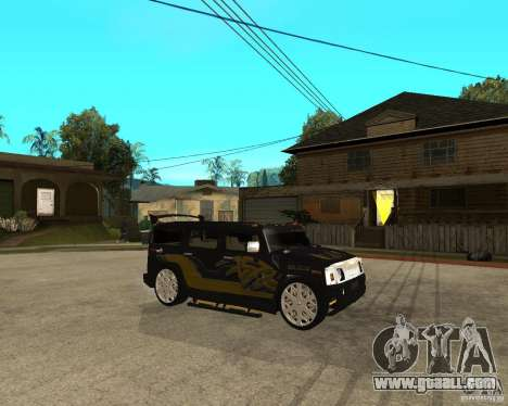 H2 HUMMER DUB LOWRIDE for GTA San Andreas