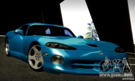 Dodge Viper for GTA San Andreas back left view