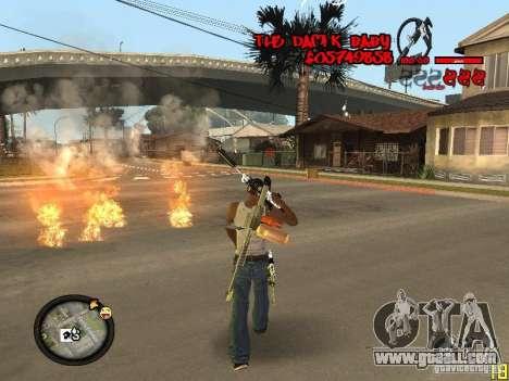 Hud by Dam1k for GTA San Andreas forth screenshot