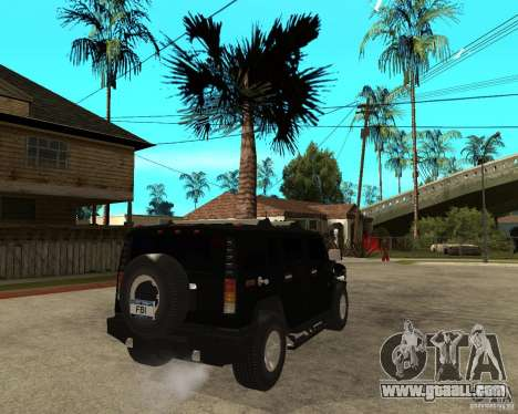AMG H2 HUMMER SUV FBI for GTA San Andreas back left view