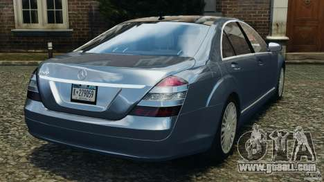 Mercedes-Benz W221 S500 2006 for GTA 4 back left view