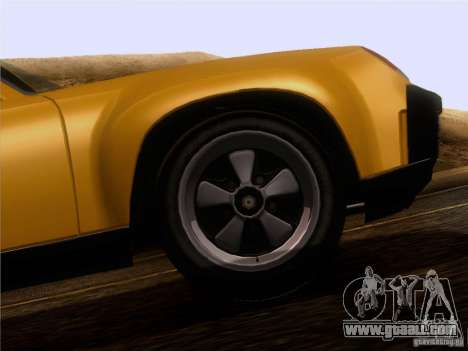 Porsche 914-6 for GTA San Andreas inner view