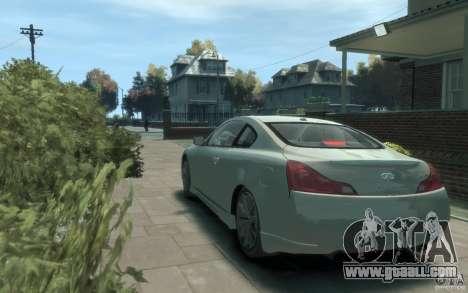 Infiniti G37 S for GTA 4 back left view