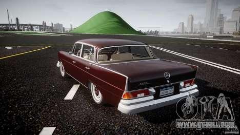 Mercedes-Benz W111 v1.0 for GTA 4 back left view