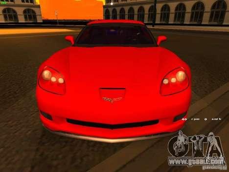 Chevrolet Corvette Z06 for GTA San Andreas upper view