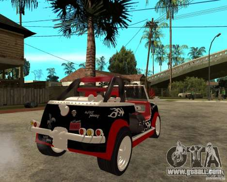 MiniCooper Tuning HOVADO 1 (MaxiPervers.cz) v.2 for GTA San Andreas back left view
