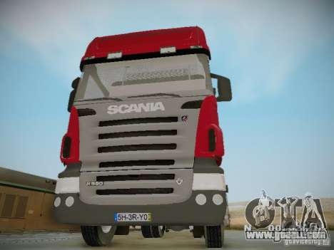 Scania R580 Topline for GTA San Andreas inner view