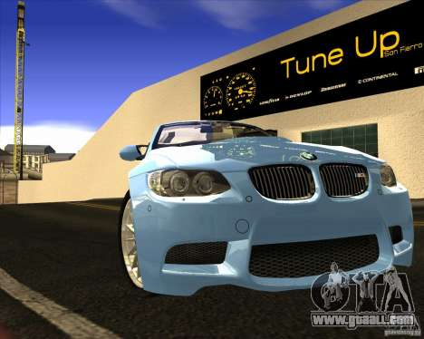 BMW M3 Convertible 2008 for GTA San Andreas inner view