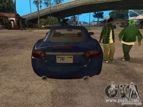 Jaguar XK for GTA San Andreas back view