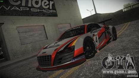 Audi R8 LMS for GTA San Andreas wheels