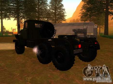 Ural-4420 tractor for GTA San Andreas back left view