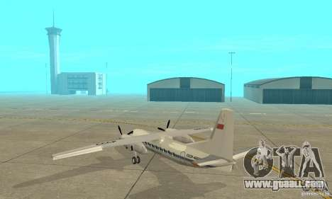Antonov an-24 for GTA San Andreas back left view
