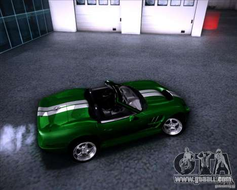 Shelby Series One 1998 for GTA San Andreas upper view