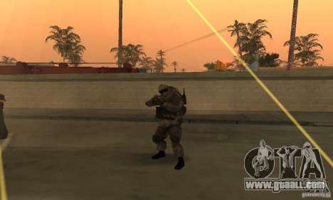 Soldiers from the CoD MW for GTA San Andreas second screenshot