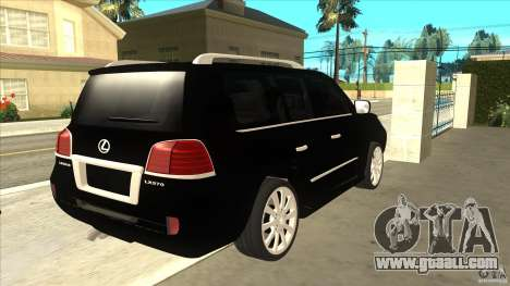 Lexus LX 570 for GTA San Andreas right view