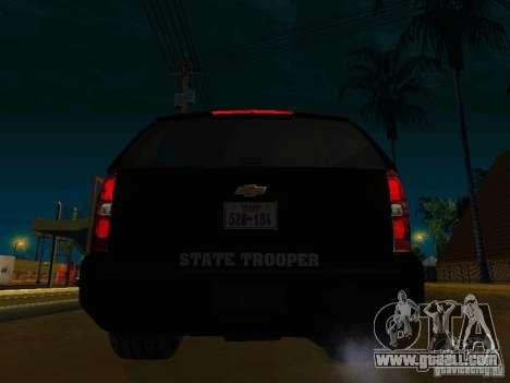 Chevrolet Tahoe Texas Highway Patrol for GTA San Andreas back left view