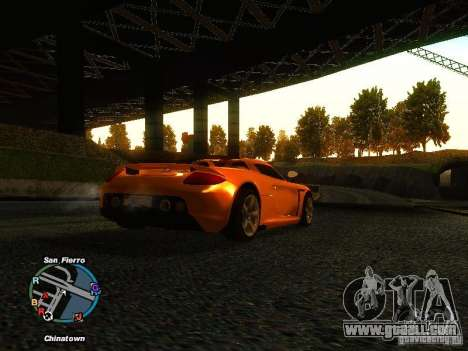 Porsche Carrera GT 2003 for GTA San Andreas back left view