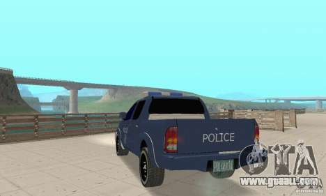 Toyota Hilux Somaliland Police for GTA San Andreas left view