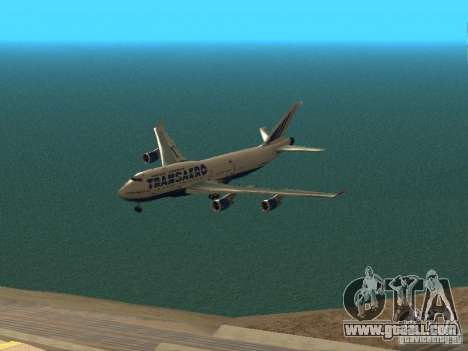 Boeing 747-400 for GTA San Andreas upper view