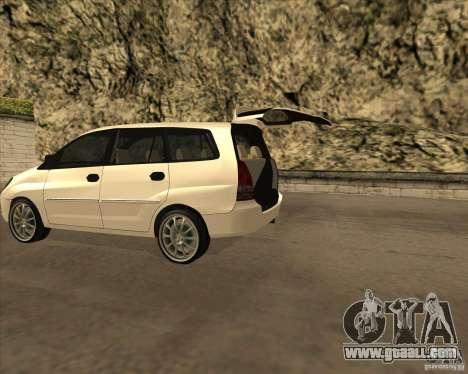 Toyota Innova for GTA San Andreas back left view
