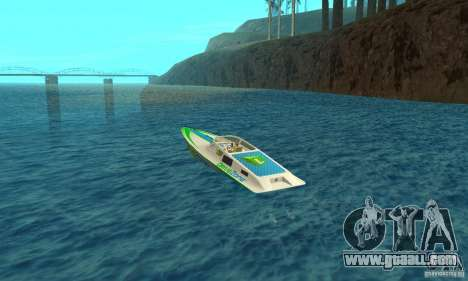Speed Motorboat for GTA San Andreas back left view