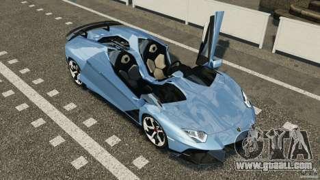 Lamborghini Aventador J 2012 for GTA 4 upper view