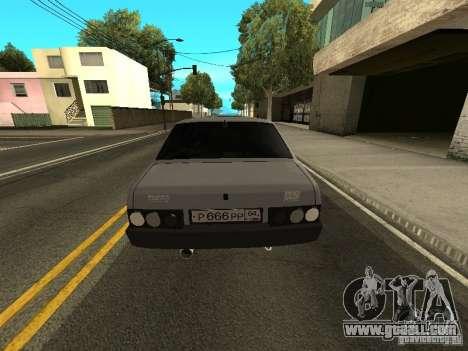 VAZ 21099 Turbo for GTA San Andreas back left view