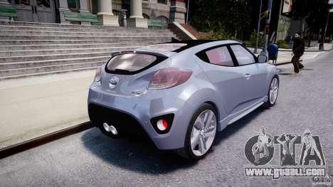 Hyundai Veloster Turbo 2012 for GTA 4 back left view