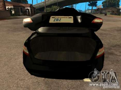 Toyota Camry 2010 for GTA San Andreas back view