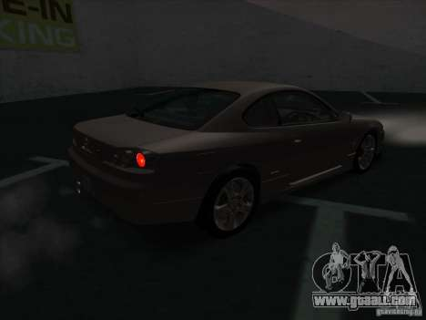 Nissan Silvia S15 Tunable KIT C1 - TOP SECRET for GTA San Andreas back left view
