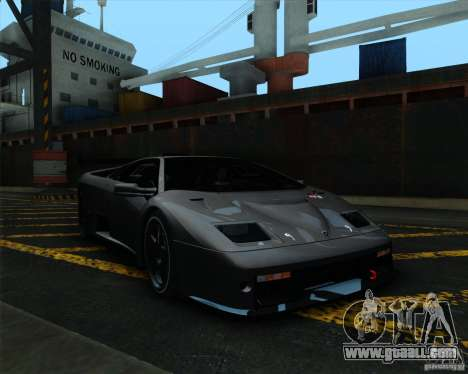 Lamborghini Diablo GTR V1.0 1999 for GTA San Andreas left view