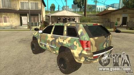 Jeep Grand Cherokee SRT8 Camo for GTA San Andreas back left view
