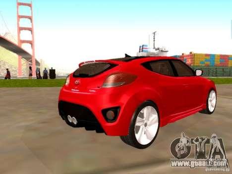 Hyundai Veloster Turbo v1.0 for GTA San Andreas left view