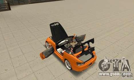 Honda Amuse R1 AP1 S2000 for GTA San Andreas inner view