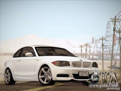 BMW 135i for GTA San Andreas left view