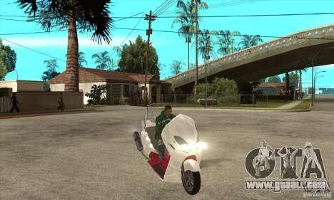 Honda Forza for GTA San Andreas back view