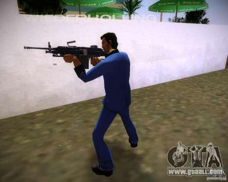 FN M249 for GTA Vice City third screenshot
