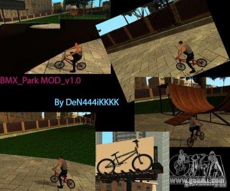 BMX_Park MOD_v 1.0 for GTA San Andreas