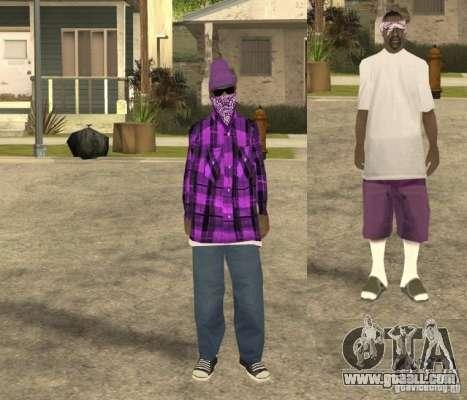 Skinpack Ballas for GTA San Andreas second screenshot
