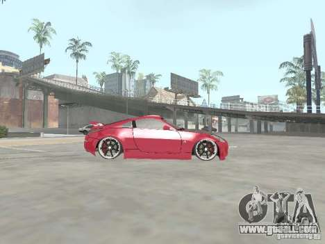 Nissan 350Z v2 for GTA San Andreas left view