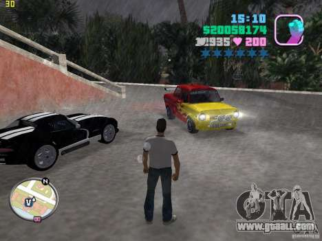 ZAZ 968 m for GTA Vice City back left view