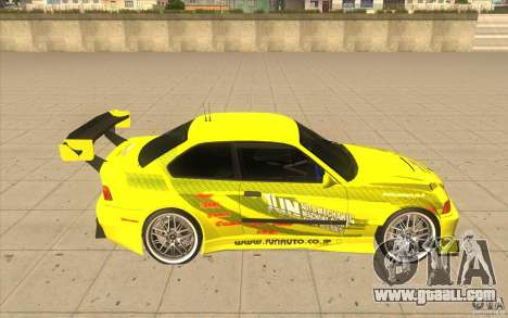 BMW M3 E36 1994 with new vinyl unique for GTA San Andreas back view